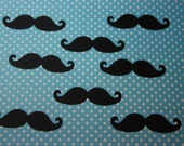 """2"""" Mustache Table Confetti 50 CT- Birthday- Baby Shower- Cutout- Die cut- Color Options Available"""