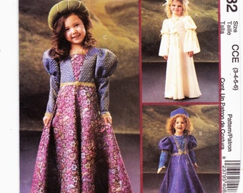McCall's 4082 Girl's Renaissance cosumes Halloween School Play Reinactment Sz's 3-4-5-6 Uncut Pattern- 3