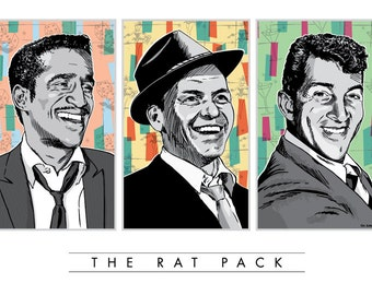 Rat Pack - Pop Art Poster Print