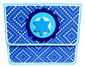 Hanukkah Dots: Gift Card Holder, Gift Card Envelope, Gift Card Box, Money Holder