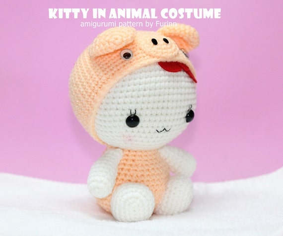 PDF Pattern Kitty in Pig Costume / Chinese Zodiac Pig by ...