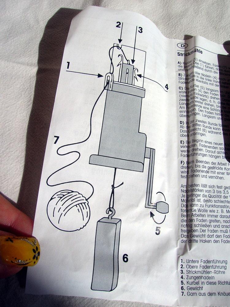 Knitting Mill Prym : New prym hand knitting mill machine run knit roping by