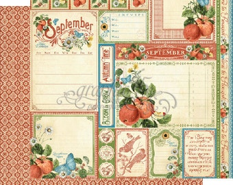 """BOTH September Pages - Graphic 45 """"Time to Flourish""""  ** See Discounted Shipping Note**"""
