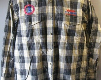 Vtg WESTERN SHIRT by Wrangler Cowboy NHSRA Rodeo - Men's Medium w131