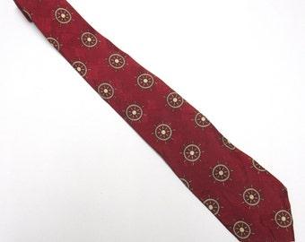 """Red Necktie Ralph Lauren 4"""" Wide Tie Long Silk Nautical"""