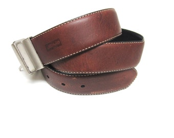 Mens Brown Belt Leather Size 36