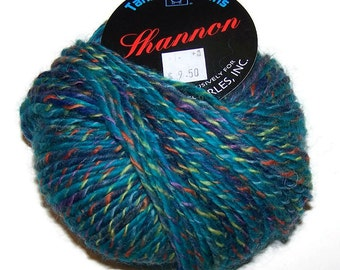 Destash Tahki Shannon Wool Yarn Blue and Green