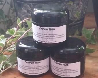 VAPOR RUB- Handmade vapor rub for congestion made with menthol crystals, eucalyptus, and rosemary