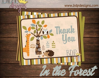 "In the Forest Woodland Thank you Card (4.25""x5.5"")"