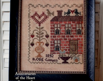 Blackbird Designs: Valentine Rose - an Anniversaries of the Heart Cross Stitch Pattern