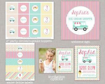 Ice Cream Birthday, Ice Cream Birthday Decorations, Ice Cream Party, Printable