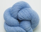 Blue Heather Recycled Lace Weight Cashmere Yarn, 2804 Yards Available in Five Different Length Skeins, Two Ply Cashmere Yarn