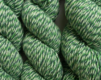 Eat Your Greens Recycled Aran Weight Wool Blend Yarn, Merino, Viscose, Angora, Cashmere, 361 Yards Available in Three Different Skeins