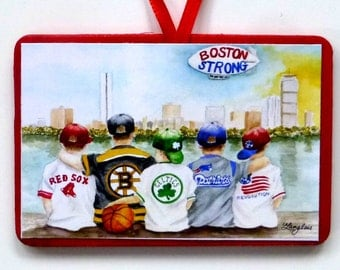 BOSTON STRONG Christmas Ornament