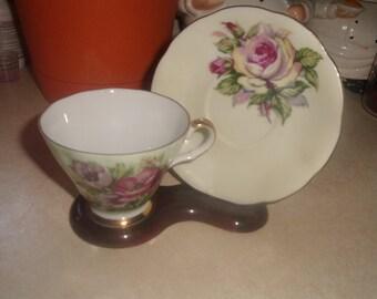 vintage lefton bone china cup saucer set tea coffee