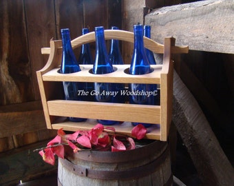 Wooden wine tote