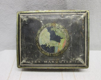 Rustic Cutex Tin, Tin Collectibles