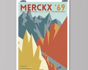Cycling Art Print - Panache: Merckx '69