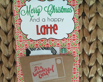 """Christmas PRINTABLE 'Merry Christmas and Happy Latte"""" Gift Tags (INSTANT DOWNLOAD) by SweetTeaPaper"""