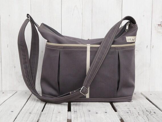 charcoal nappy bag zipper diaper bag lots of pockets. Black Bedroom Furniture Sets. Home Design Ideas