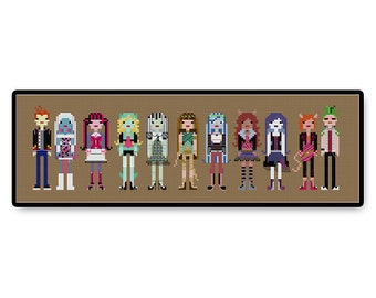 Monster High - Cross Stitch PDF Pattern