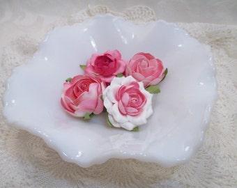 Vintage Milk Glass- Hazel Atlas Candy Dish - Diamond Squares- Ash Tray