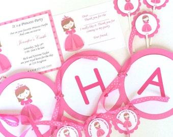 Princess Birthday Party Package, Princess Themed Party, Royal Princess Party, Princess Birthday Invitation, Royal Princess Invitation