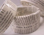 English Romantic Poets Bangle Bracelets