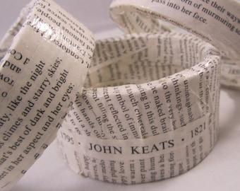 English Romantic Poets Bangle Bracelets