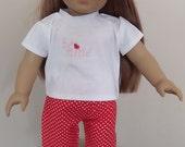 American Girl Doll Valentine Pajamas