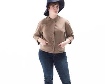 1940's Brown Wool Jacket / Brevity Coat