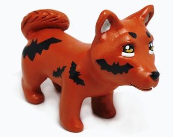 Halloween Bats Shiba Inu Figurine