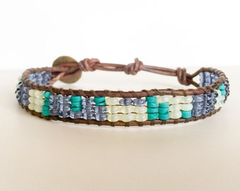 Men's Turquoise and Glass Sundial Bracelet