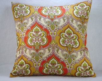 Morrocan Gold and Rust Decorative Accent Pillow Cover 18x18
