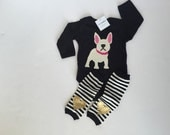 French Bulldog Baby Bodysuit with Heart...