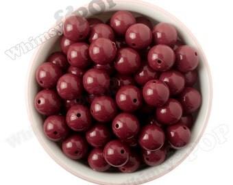 16mm - Burgundy Maroon Dark Red Gumball Beads, Chunky Gumball Beads, 16mm Gumball Beads, 16mm Chunky Beads, 16mm Beads, 2mm Hole