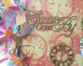 Time Goes By - 6x10 Chipboard Birthday Girl Album