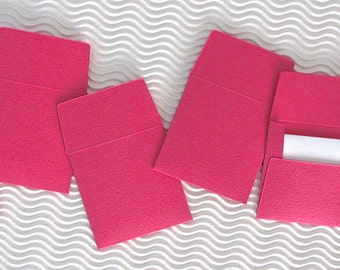36+ teeny tiny envelope note card sets handmade pink fairy mini miniature square party favors weddings stationery guest book