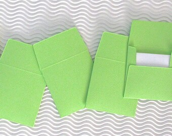 36+ teeny tiny envelope note card sets handmade lemon lime green mini miniature square party favors weddings stationery guest book