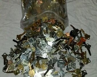 Keys by the Pound,Brass, Metal, Gold, Silver Keys,Steam Punk, Art, Craft Supply -