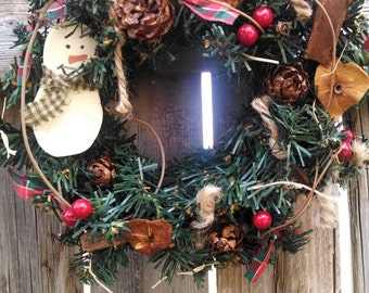 ONE Snowman Wreath