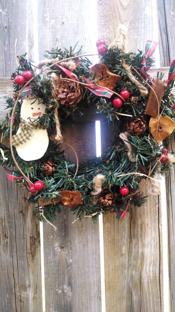 ONE Snowman Wreath