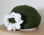 Michigan State Baby Hat, Michigan State University Hat, Green & White Baby Crochet Hat, MSU Child's Hat, Michigan State Fans, FREE SHIPPING