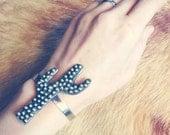Bumpy Saguaro Cactus Cuff. Made To Order brass southwestern cactus cuff bracelet.