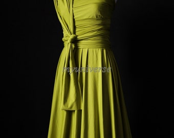 Wedding Dress Bridesmaid Dress Infinity Dress Wrap Formal Dress Light Olive Green Girl Dress