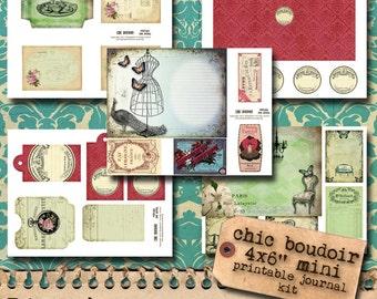 Chic Boudoir - Printable Journal Kit