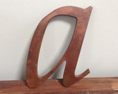 Reclaimed vintage letters - a