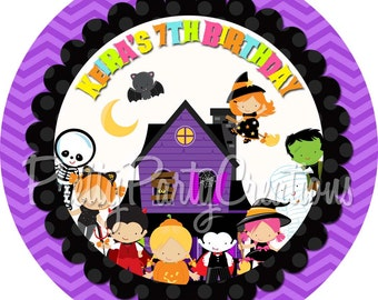 HALLOWEEN KIDS favor tags - YOU print - 3, 2.5 or 2 inch
