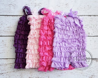 lace rompers, baby romper, petti lace romper, girl romper, petti rompers, ruffle romper, posh peanut, 30 colors to choose , rompers