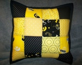 Quilted Patchwork Hawkeye Pillow